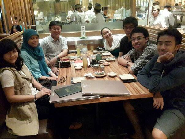 14 February 2014 - Dinner with ex-Supervisee