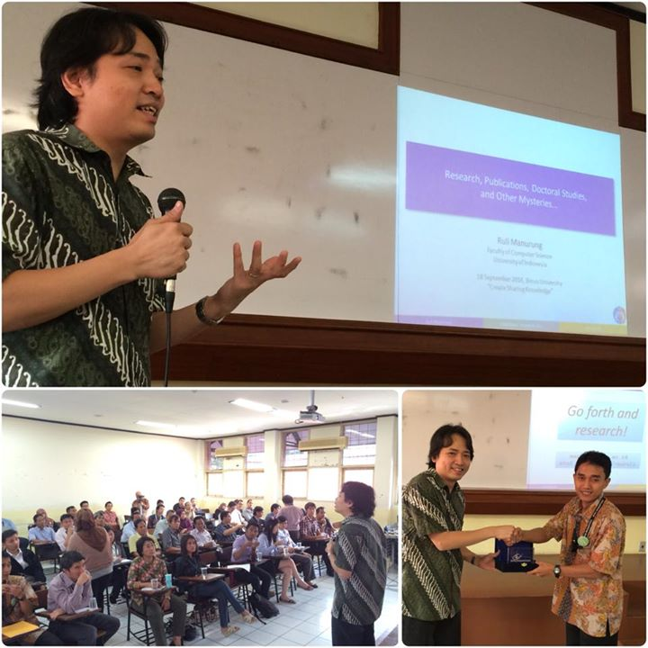 18 September 2014 - Create Sharing Knowledge by Dr. Ruli Manurung