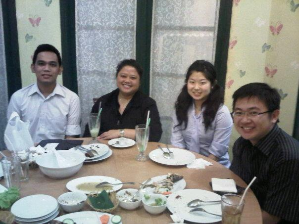 5 Juni 2012 - Dinner with Natsumi Koda, a young native Japanese lecturer in Bina Nusantara University